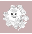 Rose Themed Vintage Sketch vector image vector image