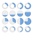 Round Infographic Elements and Pie Charts Set vector image