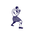 Scotsman Weight Throw Isolated Retro vector image vector image