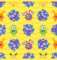 seamless pattern with colorful bacteria vector image