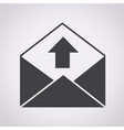 sending email and envelope icon vector image
