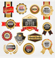 set badges shop product sale best price vector image