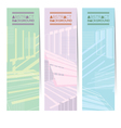 Set Of Three Pastel Abstract Vertical Banners vector image vector image