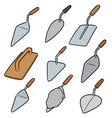 set of trowel vector image