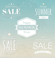 Summer Labels Set vector image vector image