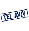 Tel Aviv blue square stamp vector image vector image
