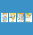 tennis set of cards tennis vector image vector image