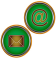 Two icons of the mail vector image
