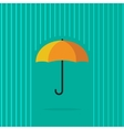 Umbrella in abstract line rain vector image vector image