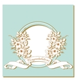 Vintage card with flowers around the frame vector image vector image