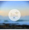I love summer hipster blurred background vector image