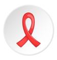 Red ribbon logo flat style vector image
