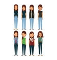 cartoon young womens vector image