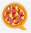 Pizza speech bubble vector image