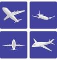 logistics aircraft set vector image