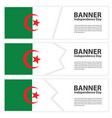 algeria flag banners collection independence day vector image vector image