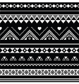 Aztec seamless pattern tribal black and white vector image vector image