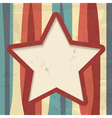 background with stripes and a star frame vector image