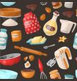 baking cooking ingredients bake making vector image