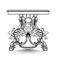 baroque console table with luxurious ornaments vector image