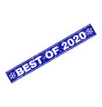 best of 2020 scratched rectangle stamp seal with vector image vector image