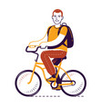 bike riding bicycling travel concept vector image