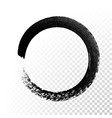 black ink circle paint stroke vector image