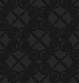 Black textured plastic swirls in square grid vector image vector image
