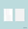Blank catalog magazinesbook mock up on blue vector image