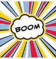 BOOM Pop Art Explosion vector image vector image