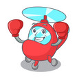 boxing helicopter character cartoon style vector image vector image
