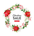 christmas sale card winter holiday season vector image