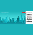 cityscape turquoise template vector image vector image