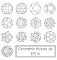 collection of 13 3d geometric shapes vector image vector image