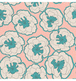 Colorful seamless pattern with blossom flowers vector image vector image