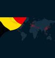 corona virus covid-19 pandemic outbreak world map vector image
