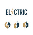 creative electric thunder concept logo design vector image vector image