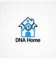 dna home logo concept icon element and template vector image vector image