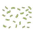 dollar money rain pop art vector image