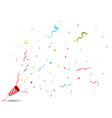 exploding party popper vector image vector image