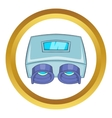 Eye checking machine icon vector image vector image