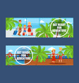 family going on vacation set banners vector image