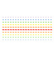 fast delivery car shape halftone spectrum pattern vector image