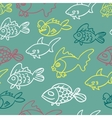 fish doodle vector image vector image