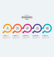 five steps timeline infographic template vector image