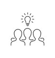 group people has an idea line icon vector image vector image