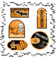 Halloween sale tags isolated bubbles for you vector image