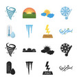 humidity icicles thunderbolt windy weather vector image