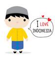 indonesia men national dress cartoon vector image vector image