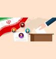 iran democratic election select parliament member vector image